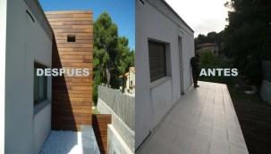 Ampliación de vivienda en madera.