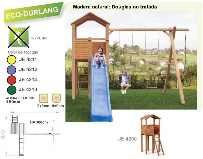 parque infantil de exterior torre ecodurlang