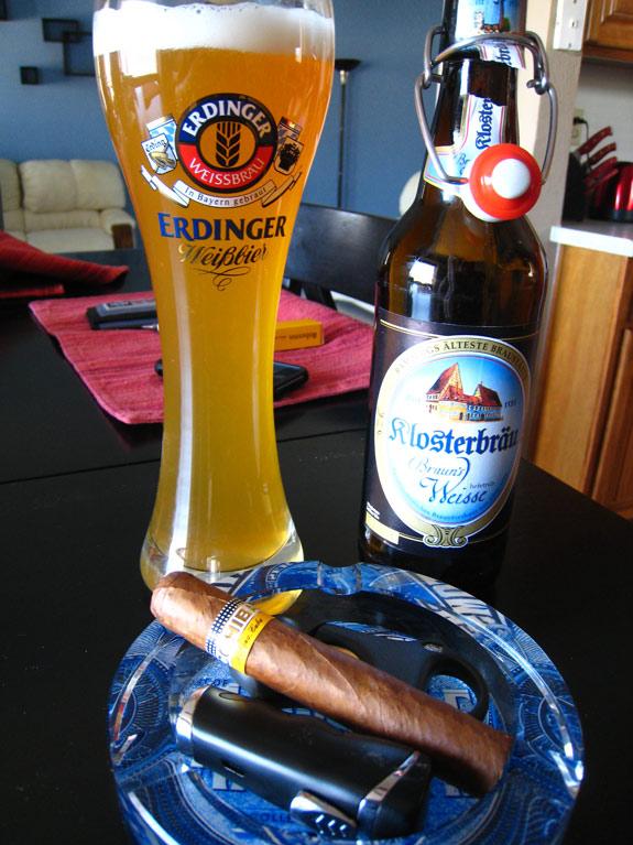 Cohiba Robustos and Klosterbrau Braun's Weisse