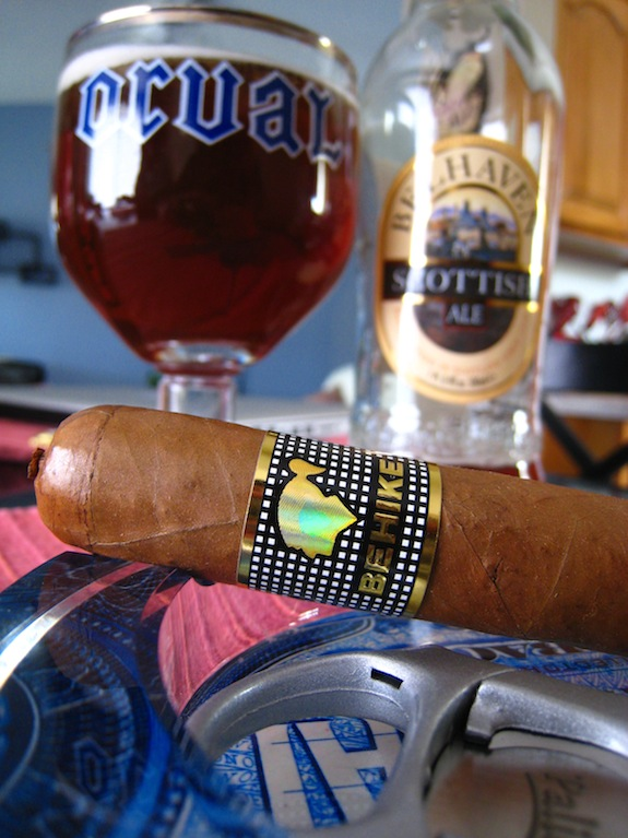 Cohiba Behike with Belhaven Scottish Ale