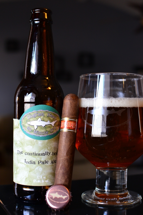 Rocky Patel - Burn Naples with Dogfish Head's 60 Minute IPA
