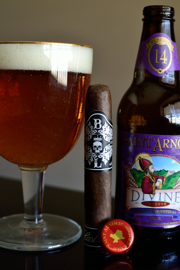 Black Label Trading Last Rites with Saint Arnold's Divine Reserve #14