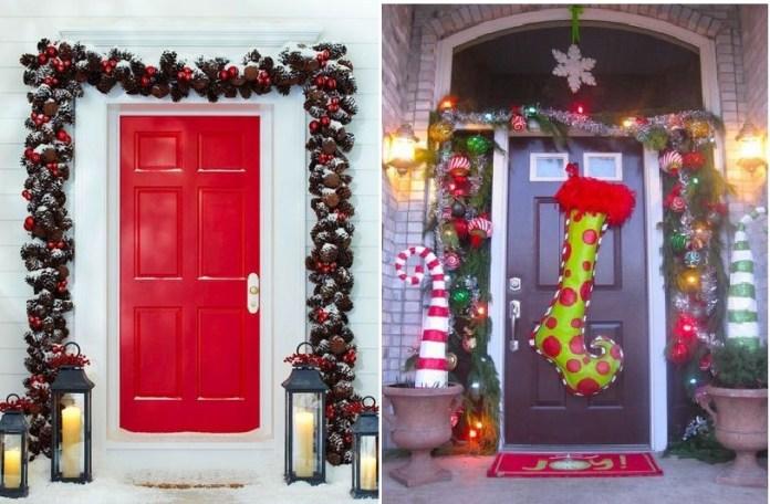 40+ Ιδέες Χριστουγεννιάτικης διακόσμησης πόρτας – εισόδου σπιτιού