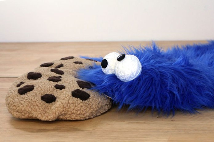 cookie-monster-rug-pillows