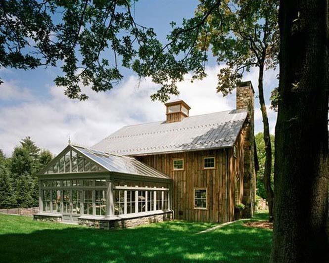 Αχυρώνας του 1860 Μεταμορφώθηκε σε Εντυπωσιακή Κατοικία