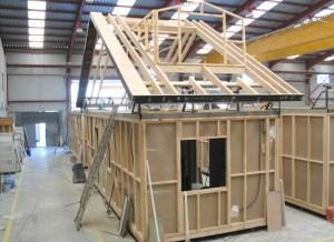 Sistema casa modular de madera
