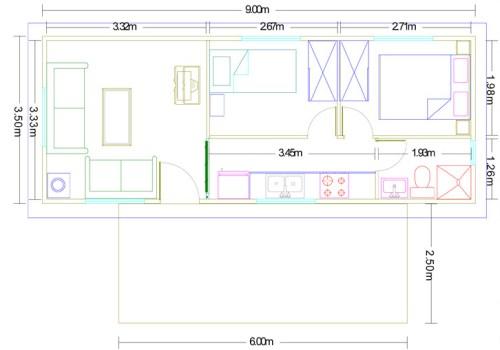 Plano casa de madera modelo ibiza