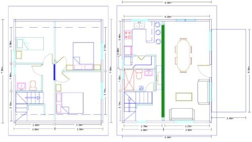 Plano Modelo Corca II Casa de madera