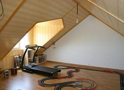 Casa desván de madera