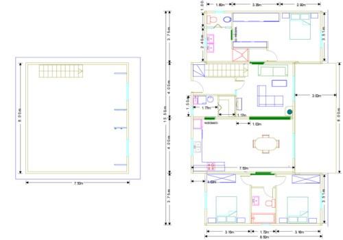 Planos Casa de madera Norteamerica