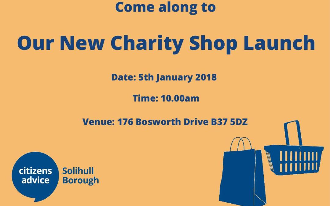 New Charity Shop Launch!