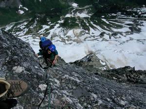 Rock climbing the Northeast Buttress of Mount Goode
