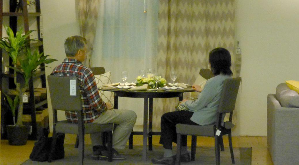 Dining room display at Nitori