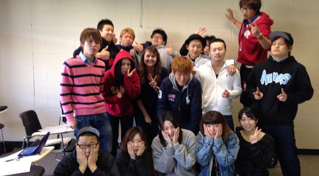 Exchange students at TIUA