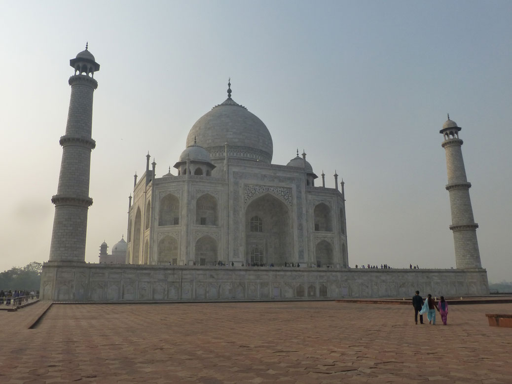 Taj Mahal - View from Guesthouse