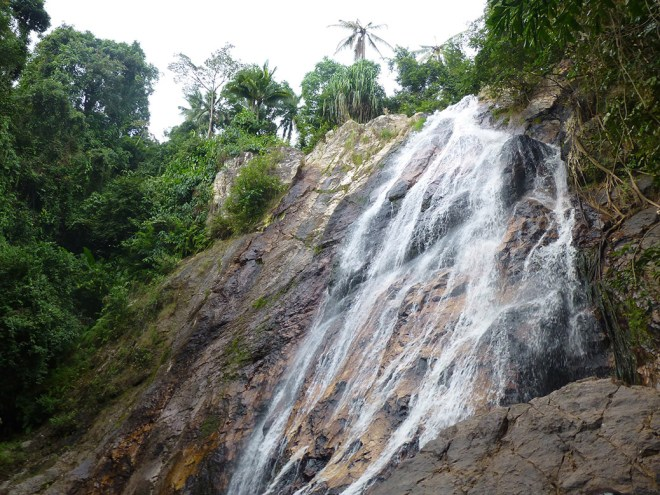 One of the waterfalls at Na Muang on the mountain in the center of Koh Samui