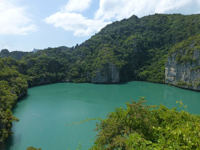"Parts of the Leonardo Di Caprio movie ""The Beach"" were filmed in Ang Thong. Emerald Lake on Talay Nai played the role of ""Blue Lagoon"" in the movie."