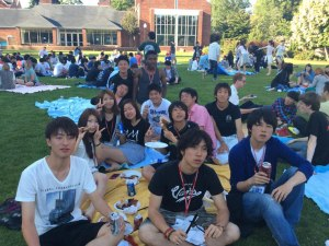 The farewell barbecue at Willamette