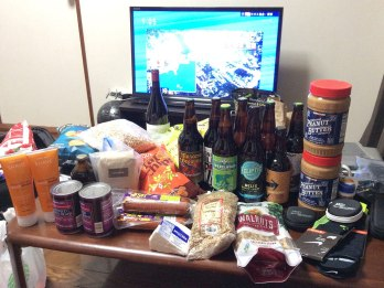 A taste of home back in Japan: Oregon beer, refried black beans, Stumptown Coffee, Oregon wine and Costco-sized peanut butter to name a few