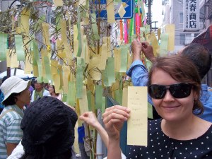 """Our Tanabata wish: """"If Lost, Return to Japan"""""""