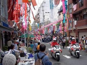 The start of the Shitamachi Tanabata Parade
