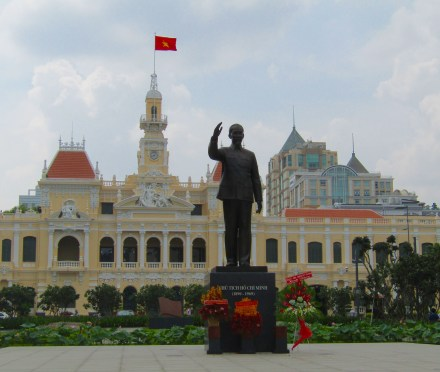 Ho Chi Minh Statue at Ho Chi Minh City People's Committee
