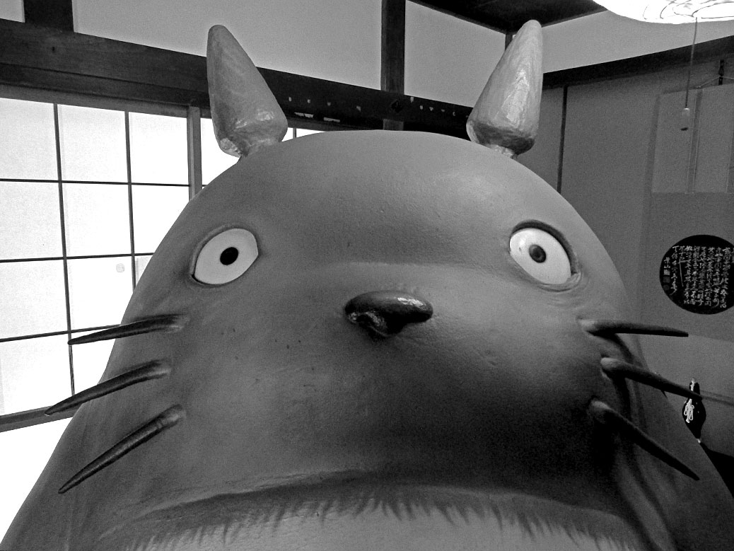 The Totoro display at Kurosuke House in Tokorozawa, Saitama, Japan
