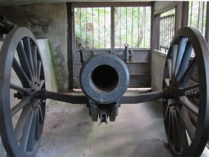 A Russian-made cannon is one of the relics from the Russo-Japanese War on display in Togo Park