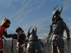 A couple kids get the full Samurai treatment