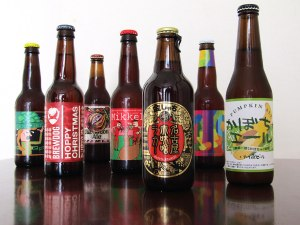 One of Santa's elves arrived dressed as a Kuroneko delivery driver to bring a selection of holiday-themed beers from around the world
