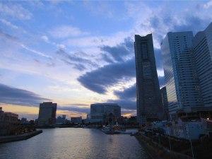Yokohama's iconic Landmark Tower at dusk