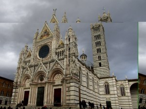 The Siena Cathedral, built in the 13th century, features one of the world's most ornate church facades.