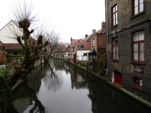 """One of the canals in Bruges that give it the moniker of """"Venice of the North."""""""