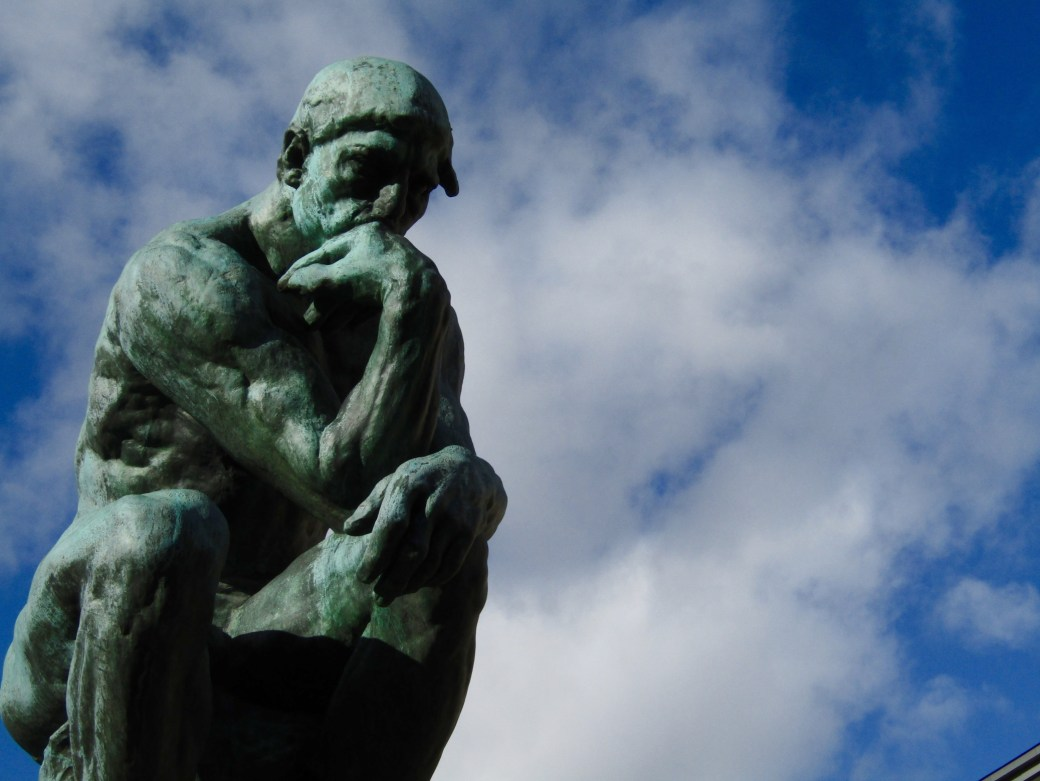 Auguste Rodin's The Thinker at the Rodin Museum.