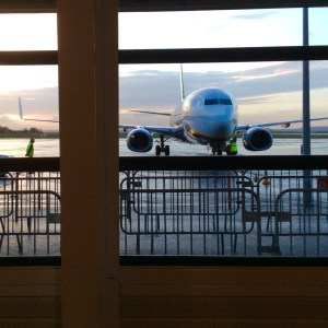 Sunrise at Paris's Beauvais Airport.