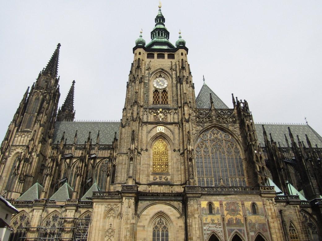 St. Vitas Cathedral at Prague Castle.
