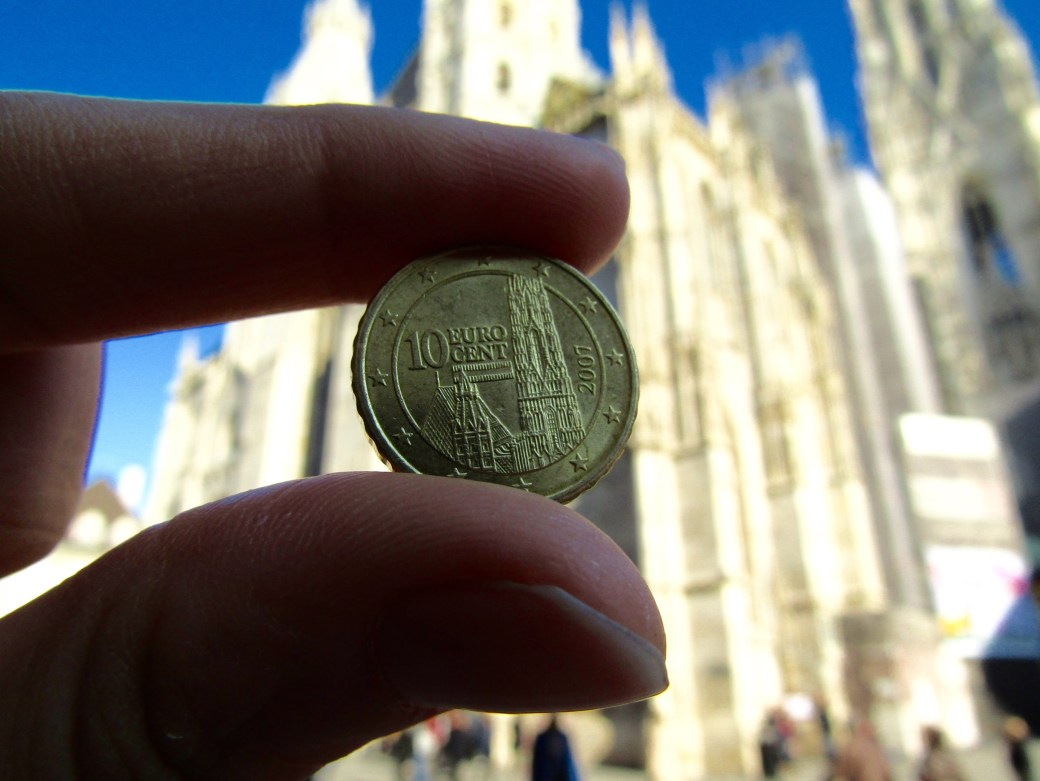 Vienna's St. Stephen's Cathedral is featured on the Austrian version of the 10 euro cent coin.