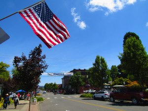 Main Street in Monmouth, Ore. after the Western Days Parade.