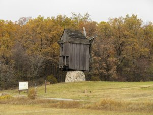 """This windmill reminded me of the story """"Baba Yaga,"""" a Slavic folktale about a witch who lives in a chicken-legged hut."""