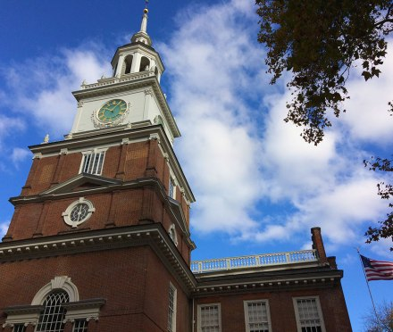 Philadelphia's Independence Hall, the birthplace of the United States.