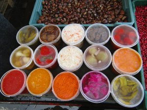 Everything you can imagine, pickled, brined or fermented and for sale!