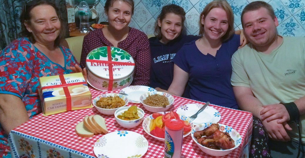 Family dinner in Ukraine.