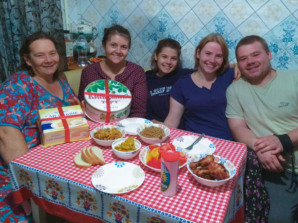 Family dinner in Ukraine.