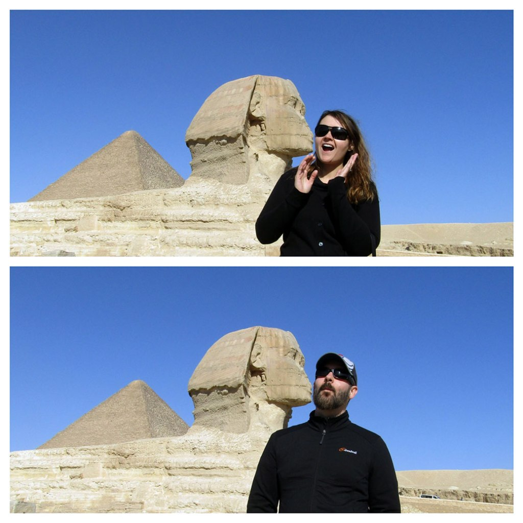 By all accounts, the Great Sphinx is a great kisser!