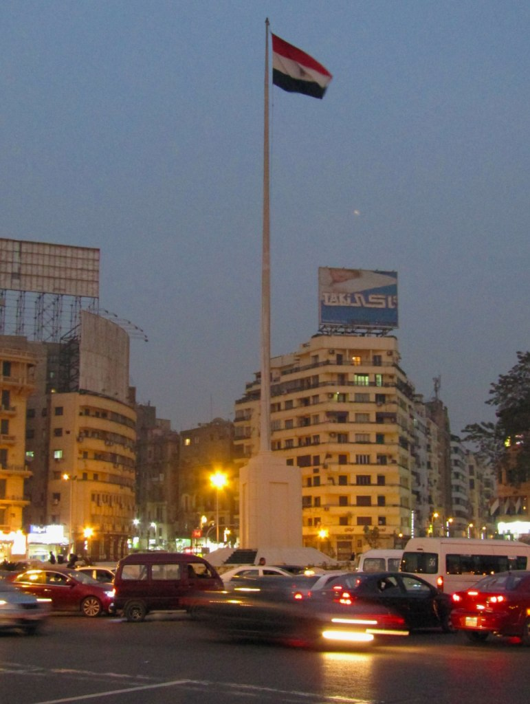 Tahrir Square at night
