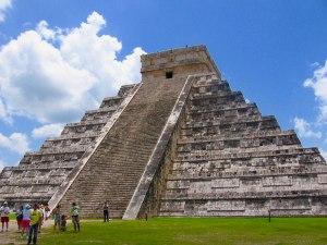 El Castillo (the castle) is the main step pyramid in Chichen Itza. No climbing allowed!