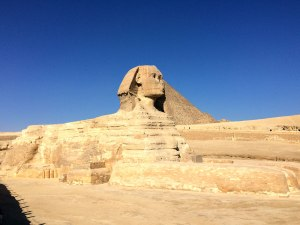 Cool view of the Sphinx's back and front lion 'paws.'