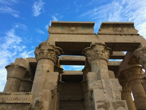 The papyrus-shaped columns at Kom Ombo are one of its most distinctive features.