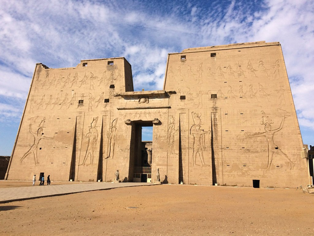 The first pylon of the Temple of Edfu.