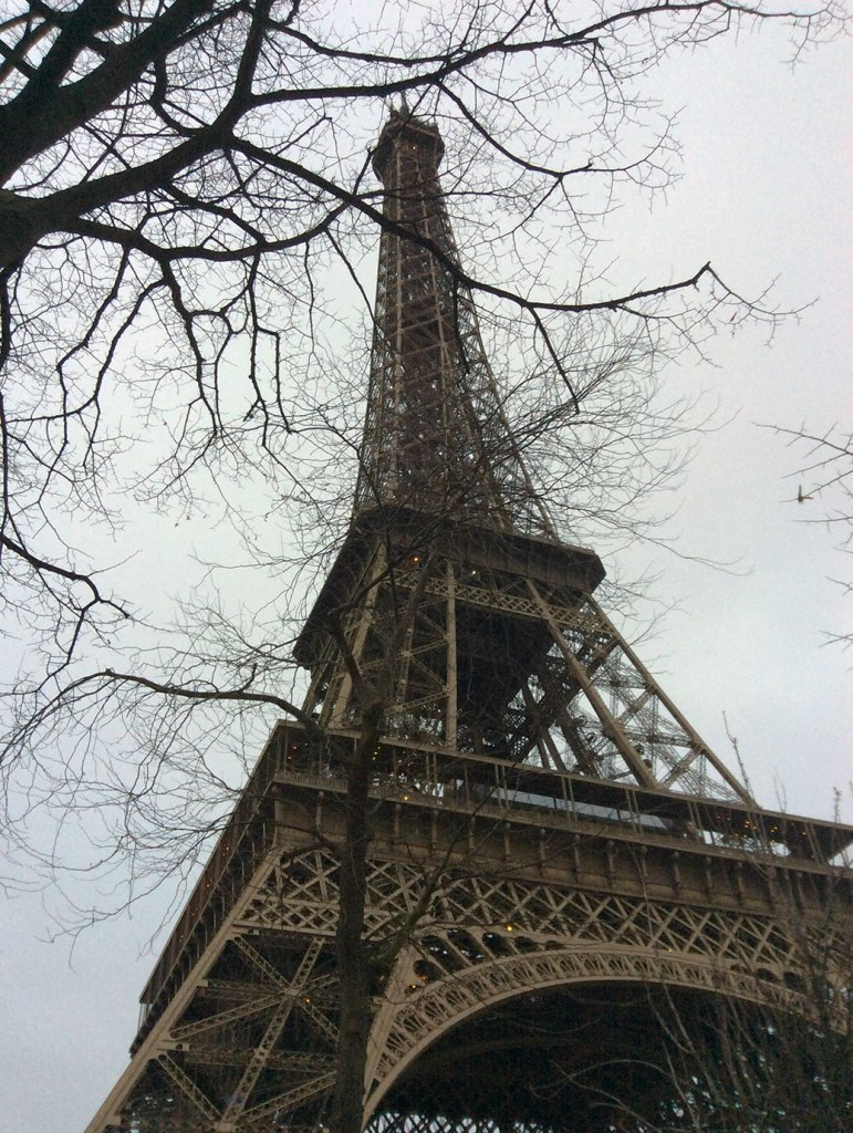Approaching the Eiffel Tower from the northeast.